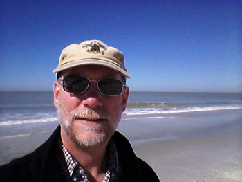 beach hike selfie