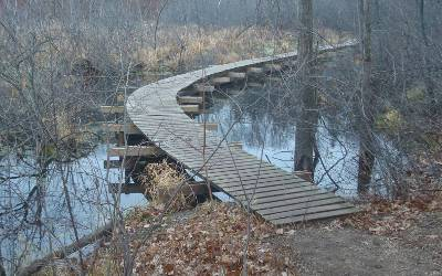 Ice Age Trail boardwalk