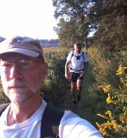 Hiker Plugging Along