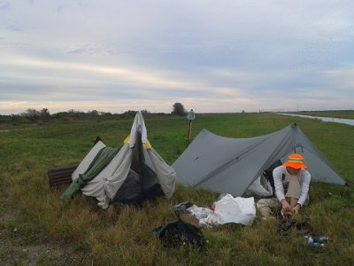 Camping on Levee