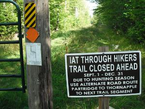 Ice Age Trail Closure