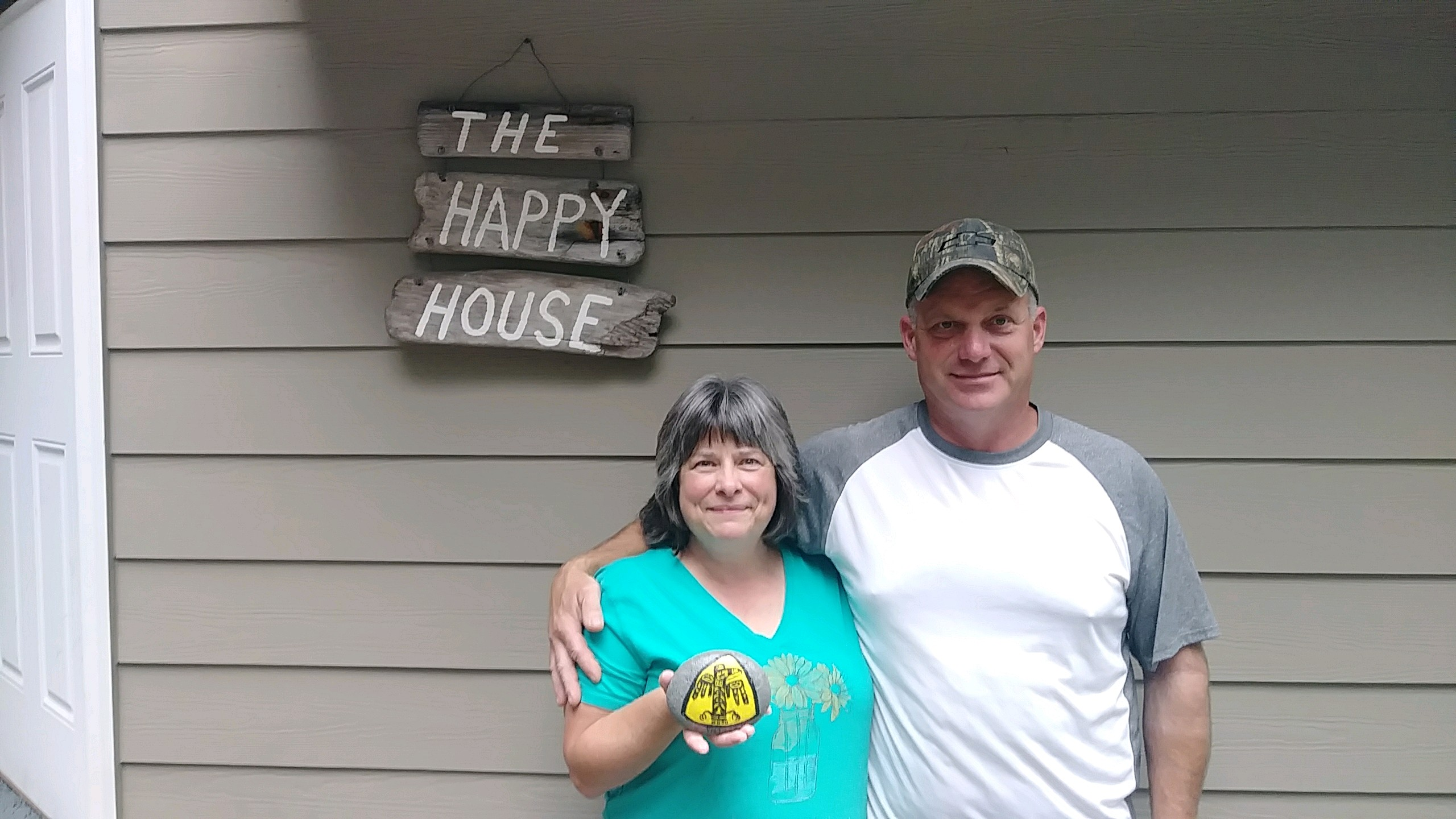 Rebecca and John at the Happy House