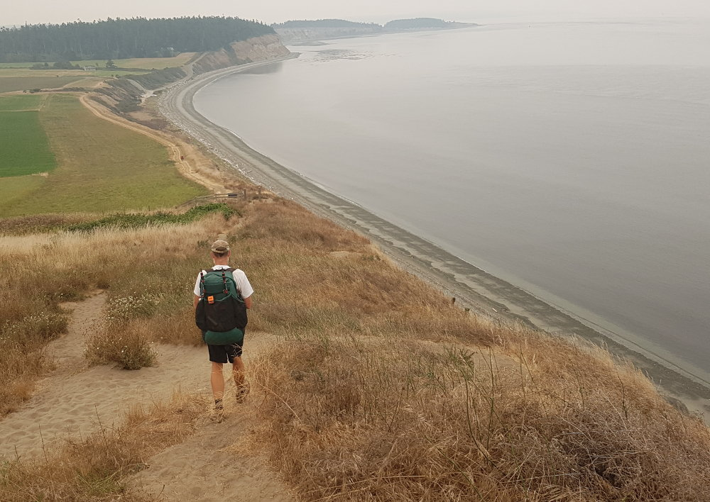 Hiking to Coupeville