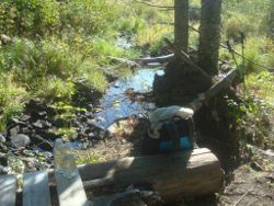 water source on superior hiking trail