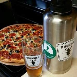 Hiking Pizza and Beer