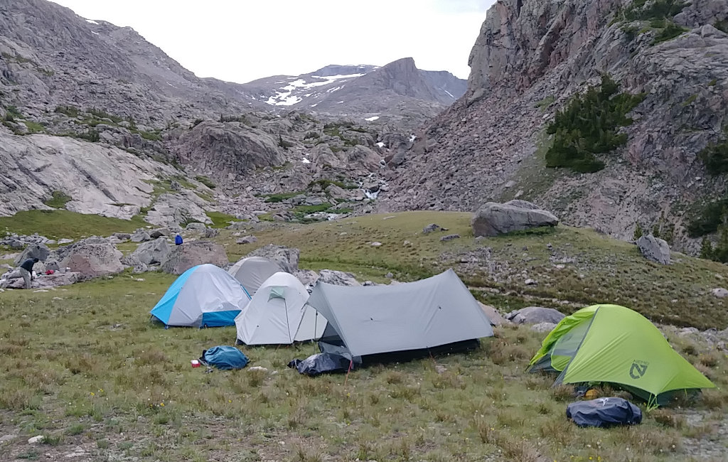 Tents at base of Cloud Peak
