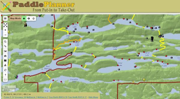 BWCAW map