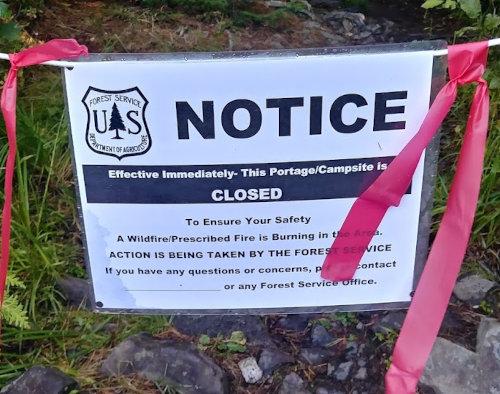 BWCA fire closure
