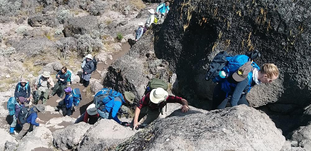 Kilimanjaro Climbing Baranco Wall