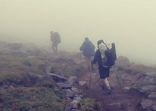 Wind River Hiking in Clouds
