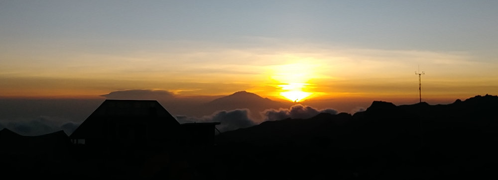 Kilimanjaro Sunset Over Meru
