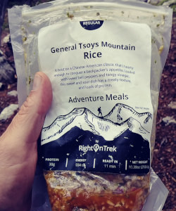 review backpacking food